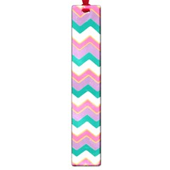 Chevron Pattern Colorful Art Large Book Marks by Amaryn4rt