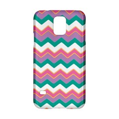 Chevron Pattern Colorful Art Samsung Galaxy S5 Hardshell Case  by Amaryn4rt