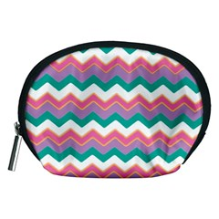 Chevron Pattern Colorful Art Accessory Pouches (medium)  by Amaryn4rt