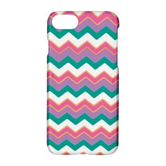 Chevron Pattern Colorful Art Apple Iphone 7 Hardshell Case by Amaryn4rt