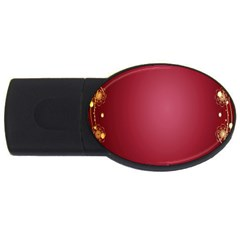 Red Background With A Pattern Usb Flash Drive Oval (2 Gb) by Amaryn4rt