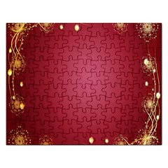 Red Background With A Pattern Rectangular Jigsaw Puzzl