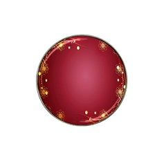 Red Background With A Pattern Hat Clip Ball Marker (4 Pack) by Amaryn4rt