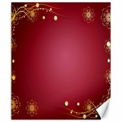 Red Background With A Pattern Canvas 20  X 24   by Amaryn4rt