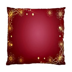 Red Background With A Pattern Standard Cushion Case (one Side) by Amaryn4rt