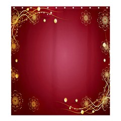 Red Background With A Pattern Shower Curtain 66  X 72  (large)  by Amaryn4rt