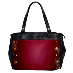 Red Background With A Pattern Office Handbags by Amaryn4rt