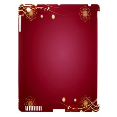 Red Background With A Pattern Apple Ipad 3/4 Hardshell Case (compatible With Smart Cover) by Amaryn4rt