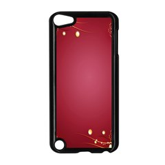 Red Background With A Pattern Apple Ipod Touch 5 Case (black) by Amaryn4rt
