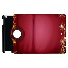 Red Background With A Pattern Apple Ipad 3/4 Flip 360 Case by Amaryn4rt