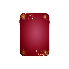 Red Background With A Pattern Apple Ipad Mini Protective Soft Cases by Amaryn4rt