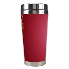 Red Background With A Pattern Stainless Steel Travel Tumblers by Amaryn4rt