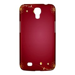 Red Background With A Pattern Samsung Galaxy Mega 6 3  I9200 Hardshell Case by Amaryn4rt