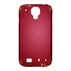 Red Background With A Pattern Samsung Galaxy S4 Classic Hardshell Case (pc+silicone) by Amaryn4rt