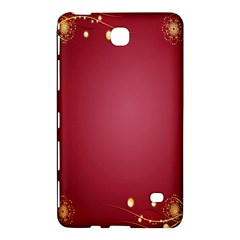 Red Background With A Pattern Samsung Galaxy Tab 4 (8 ) Hardshell Case  by Amaryn4rt