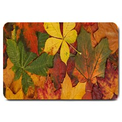 Colorful Autumn Leaves Leaf Background Large Doormat  by Amaryn4rt