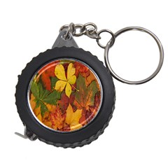 Colorful Autumn Leaves Leaf Background Measuring Tapes by Amaryn4rt
