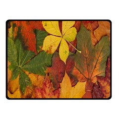 Colorful Autumn Leaves Leaf Background Fleece Blanket (small) by Amaryn4rt
