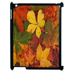 Colorful Autumn Leaves Leaf Background Apple Ipad 2 Case (black) by Amaryn4rt