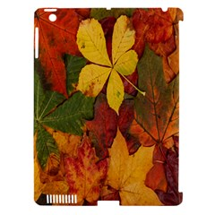 Colorful Autumn Leaves Leaf Background Apple Ipad 3/4 Hardshell Case (compatible With Smart Cover) by Amaryn4rt
