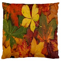 Colorful Autumn Leaves Leaf Background Large Cushion Case (one Side) by Amaryn4rt