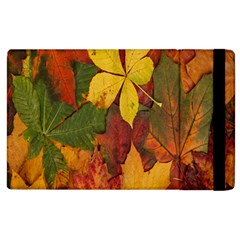 Colorful Autumn Leaves Leaf Background Apple Ipad 3/4 Flip Case by Amaryn4rt