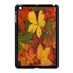 Colorful Autumn Leaves Leaf Background Apple Ipad Mini Case (black)