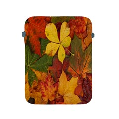 Colorful Autumn Leaves Leaf Background Apple Ipad 2/3/4 Protective Soft Cases by Amaryn4rt