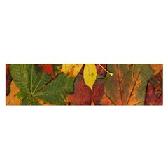 Colorful Autumn Leaves Leaf Background Satin Scarf (oblong) by Amaryn4rt
