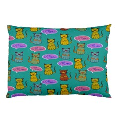 Meow Cat Pattern Pillow Case (two Sides) by Amaryn4rt
