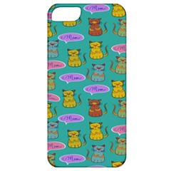 Meow Cat Pattern Apple Iphone 5 Classic Hardshell Case by Amaryn4rt