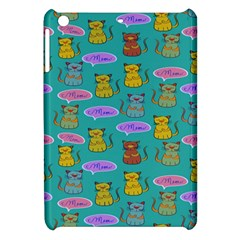 Meow Cat Pattern Apple Ipad Mini Hardshell Case by Amaryn4rt