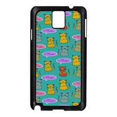 Meow Cat Pattern Samsung Galaxy Note 3 N9005 Case (black)