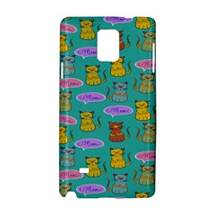 Meow Cat Pattern Samsung Galaxy Note 4 Hardshell Case by Amaryn4rt