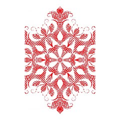 Red Pattern Filigree Snowflake On White Shower Curtain 48  X 72  (small)  by Amaryn4rt