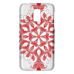 Red Pattern Filigree Snowflake On White Galaxy S5 Mini
