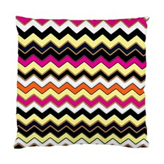 Colorful Chevron Pattern Stripes Standard Cushion Case (one Side) by Amaryn4rt