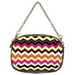 Colorful Chevron Pattern Stripes Chain Purses (two Sides)  by Amaryn4rt