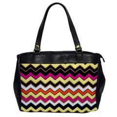 Colorful Chevron Pattern Stripes Office Handbags