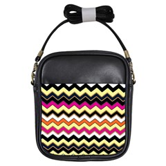 Colorful Chevron Pattern Stripes Girls Sling Bags