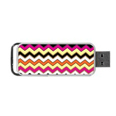 Colorful Chevron Pattern Stripes Portable Usb Flash (two Sides) by Amaryn4rt