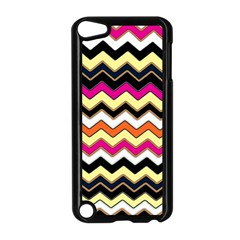Colorful Chevron Pattern Stripes Apple Ipod Touch 5 Case (black) by Amaryn4rt