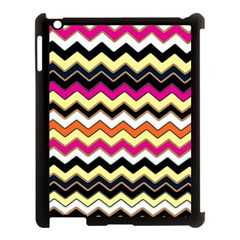 Colorful Chevron Pattern Stripes Apple Ipad 3/4 Case (black) by Amaryn4rt