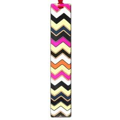 Colorful Chevron Pattern Stripes Large Book Marks by Amaryn4rt