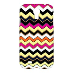 Colorful Chevron Pattern Stripes Samsung Galaxy S4 I9500/i9505 Hardshell Case by Amaryn4rt