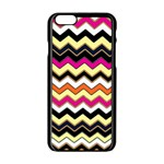 Colorful Chevron Pattern Stripes Apple iPhone 6/6S Black Enamel Case Front