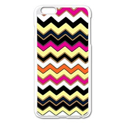 Colorful Chevron Pattern Stripes Apple Iphone 6 Plus/6s Plus Enamel White Case by Amaryn4rt