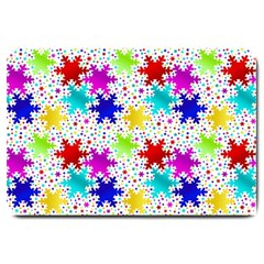 Snowflake Pattern Repeated Large Doormat  by Amaryn4rt