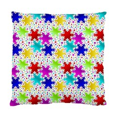 Snowflake Pattern Repeated Standard Cushion Case (two Sides) by Amaryn4rt