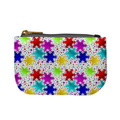 Snowflake Pattern Repeated Mini Coin Purses by Amaryn4rt